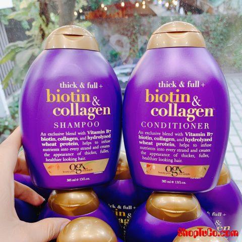 Gội xả BIOTIN tím chống rụng tóc