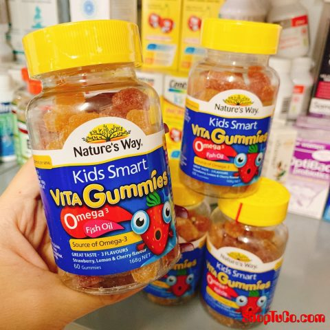 Kẹo dẻo Nature's Way kids smart Vita Gummies Omega3 Fish Oil