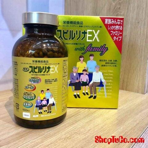 Tảo vàng cao cấp Spirulina Ex 2000