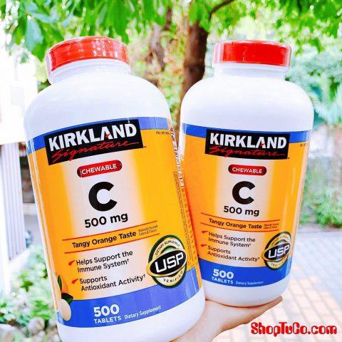 Viên Ngậm Nhai Vitamin C Kirkland